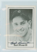 Earl Averill HOF AUTOGRAPH d.83 1978 Grand Slam Indians 