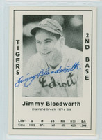 Jimmy Bloodworth AUTOGRAPH d.02 1979 TCMA Diamond Greats Tigers 