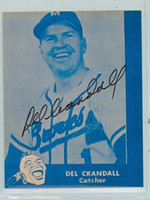 Del Crandall AUTOGRAPH Lake to Lake Braves Reprints 