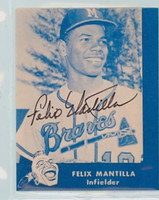 Felix Mantilla AUTOGRAPH Lake to Lake Braves Reprints 