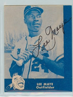Lee Maye AUTOGRAPH d.02 Lake to Lake Braves Reprints 