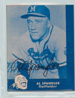 Al Spangler AUTOGRAPH Lake to Lake Braves Reprints 