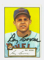 Ray Boone AUTOGRAPH d.04 1952 Topps 1983 Reprint Indians 