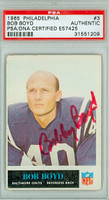 Bob Boyd AUTOGRAPH 1965 Philadelphia Colts PSA/DNA 