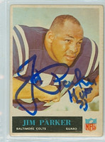 Jim Parker AUTOGRAPH d.05 1965 Philadelphia #10 Colts 