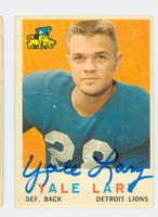 Yale Lary AUTOGRAPH 1959 Topps Football Lions 