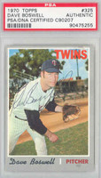 Dave Boswell AUTOGRAPH d.12 1970 Topps #325 Twins PSA/DNA   [SKU:BoswD1483_T70BBpa]