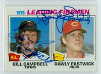 Campbell-Eastwick DUAL SIGNED 1977 Topps #8 Leading Firemen   [SKU:CampB3544_T77BBDCpl]