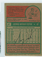 George Foster AUTOGRAPH 1975 Topps #87 Reds BACK SIGNED  [SKU:FostG1146_T75BBBSpl]