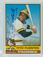 Tito Fuentes AUTOGRAPH 1976 Topps #8 Padres   [SKU:FuenT1238_T76BBCpl]