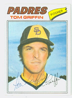 Tom Griffin AUTOGRAPH 1977 Topps #39 Padres 