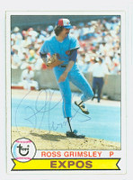 Ross Grimsley AUTOGRAPH 1979 Topps #15 Expos   [SKU:GrimR1018_T79BB]