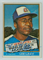 Lee Lacy AUTOGRAPH 1976 Topps #99 Braves TRADED 