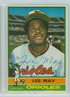 Lee May AUTOGRAPH 1976 Topps #210 Orioles   [SKU:MayL963_T76BBsbjl]