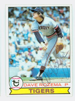 Dave Rozema AUTOGRAPH 1979 Topps #33 Tigers   [SKU:RozeD6293_T79BB]