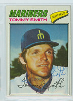 Tommy Smith AUTOGRAPH 1977 Topps #14 Mariners 