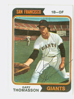 Gary Thomasson AUTOGRAPH 1974 Topps #18 Giants 