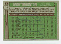 Andre Thornton AUTOGRAPH 1976 Topps #26 Cubs BACK SIGNED  [SKU:ThorA6326_T76BBBS]