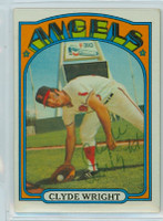 Clyde Wright AUTOGRAPH 1972 Topps #55 Angels   [SKU:WrigC1616_T72BBP]