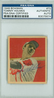Tommy Holmes AUTOGRAPH d.08 1949 Bowman #72 PSA/DNA CARD IS SHARP EX/MT