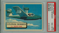 1957 Planes 43 Colonial Skimmer PSA 8 Near Mint to Mint RED