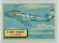 1957 Planes 89 F-86D Sabre Excellent to Mint RED