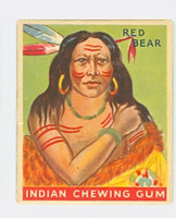 1933 Indian Gum 100 Red Bear Very Good to Excellent
