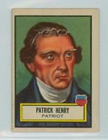 1952 Look N See 17 Patrick Henry Excellent to Mint