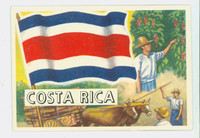 1956 Flags of the World 14 Costa Rica Excellent to Mint