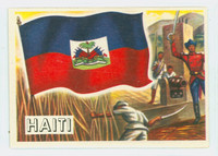 1956 Flags of the World 16 Haiti Excellent