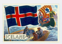 1956 Flags of the World 17 Iceland Near-Mint Plus
