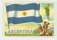 1956 Flags of the World 21 Argentina Excellent to Excellent Plus