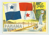 1956 Flags of the World 22 Panama Excellent
