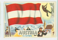 1956 Flags of the World 24 Austria Excellent