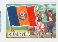 1956 Flags of the World 31 Rumania Excellent