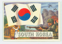1956 Flags of the World 37 South Korea Excellent to Excellent Plus