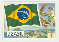 1956 Flags of the World 42 Brazil Excellent to Mint