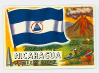 1956 Flags of the World 45 Nicaragua Near-Mint