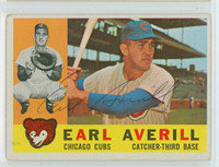 Earl Averill AUTOGRAPH d.15 1960 Topps #39 Cubs CARD IS G/VG; AUTO CLEAN  [SKU:AverE7133_T60BB]