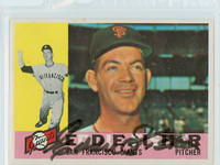 Eddie Fisher AUTOGRAPH 1960 Topps #23 Giants CHIP ON BORDER; o/w NMT  [SKU:FishE1396_T60BB]