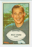 1953 Bowman Football 29 Billy Stone Chicago Bears Excellent