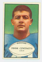 1953 Bowman Football 44 Frank Continetti Single Print Baltimore Colts Excellent to Mint