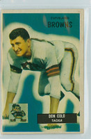 1955 Bowman Football 159 Don Colo Cleveland Browns Excellent to Excellent Plus