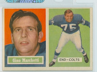 1957 Topps Football 5 Gino Marchetti Baltimore Colts Excellent to Mint