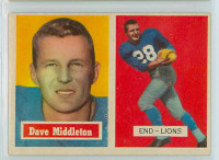 1957 Topps Football 8 Dave Middleton Detroit Lions Excellent to Mint