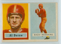 1957 Topps Football 24 Al Dorow Washington Redskins Excellent