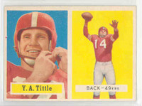 1957 Topps Football 30 YA Tittle San Francisco 49ers Near-Mint