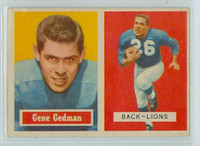 1957 Topps Football 44 Gene Gedman Detroit Lions Excellent to Mint