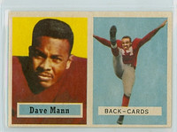 1957 Topps Football 50 Dave Mann Chicago Cardinals Excellent to Mint