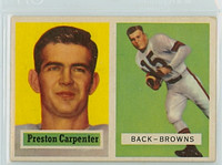 1957 Topps Football 93 Preston Carpenter Single Print Cleveland Browns Excellent
